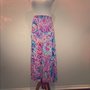 Psychedelic sunshine midi skirt